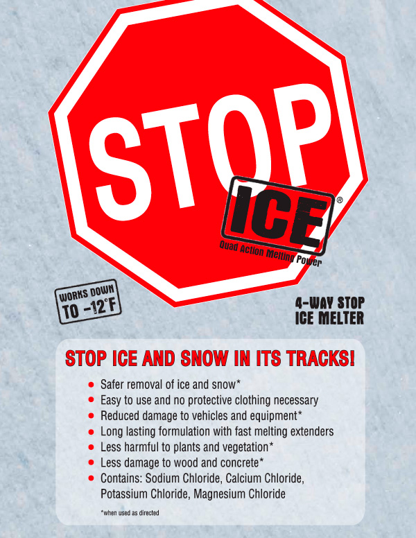 Stop Ice sell sheet 1 - Works down to -12 degrees F