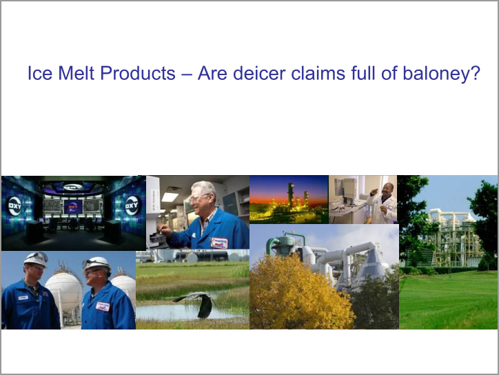 Ice Melt Products - Are deicer claims full of baloney?